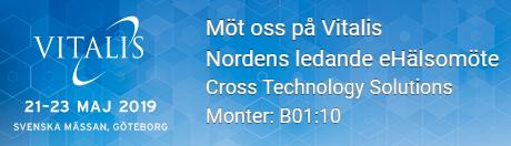 Cross Technology Solutions ställer ut på Vitalis för fjärde året i rad.